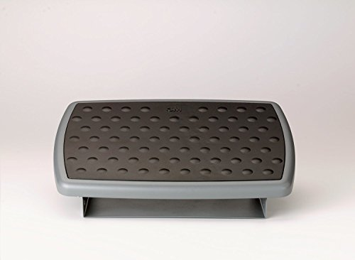 - 3M FR330 Adjustable Height/Tilt Footrest, Nonskid Platform, 18w x 13d x 4h, Charcoal Gray