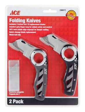 Knife Ace Utility - Ace 2 Pack Folding Utility Knife 2369171