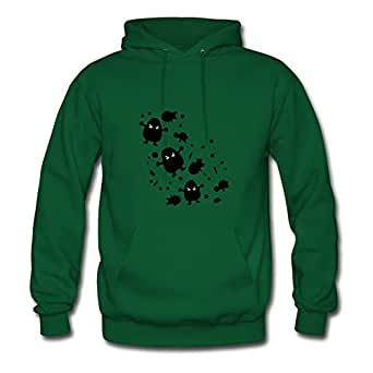X-large Women Dust Monsters Lightweight Designed Green Cotton Hoody