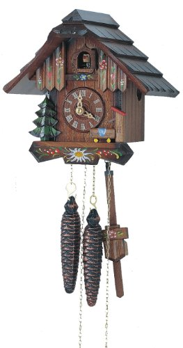 1-Day Hand Painted Flower Cuckoo Clock