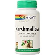 Solaray Marshmallow Root 480 mg | Healthy Respiratory Function & Digestion Support | Non-GMO & Vegan | 100 VegCaps