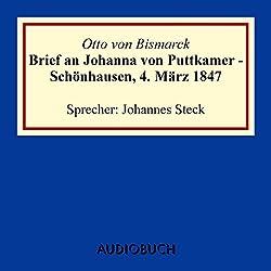 Brief an Johanna von Puttkamer