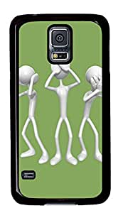 Samsung Galaxy S5 Cases & Covers - 3D Silver People PC Custom Soft Case Cover Protector for Samsung Galaxy S5 - Black