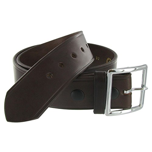 Boston Leather 1.75in. Leather Garrison Belt | 42 Brown (Buckle Garrison)