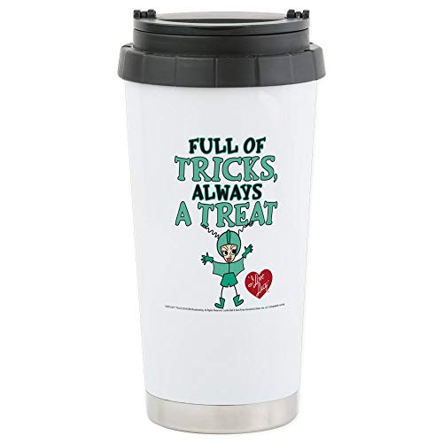 CafePress I Love Lucy: Trick Or T Stainless Steel Travel Mug Stainless Steel Travel Mug, Insulated 16 oz. Coffee Tumbler -