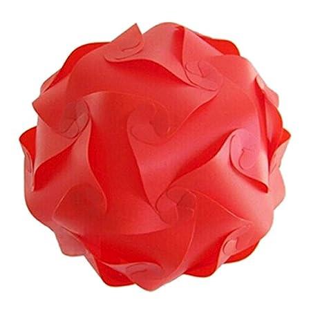abat-jour - SODIAL(R) Abat-jour IQ Puzzle pour DIY Lampe Decoration de Fete Mariage - 25cm rose
