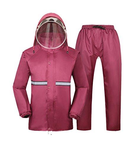 raincoat mens Single Motorcycle Electric Car Raincoat Rain Pants Men and Women Split Waterproof Suit Can Be Reused rainwear jackets (Size : XXXL)