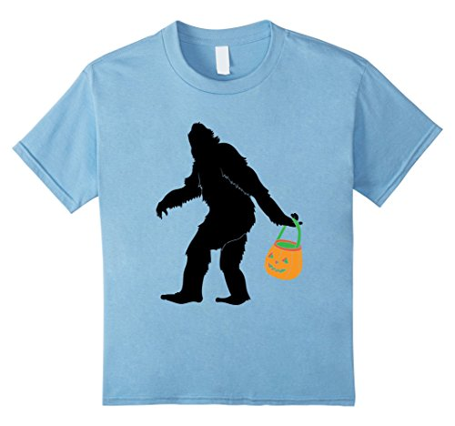 [Kids Big Foot Halloween Costume Shirt for Funny Trick or Treating 12 Baby Blue] (Baby Sasquatch Costume)