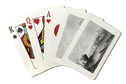 Albany, New York - View of the City and Harbor from across the Hudson River (Playing Card Deck - 52 Card Poker Size with Jokers)