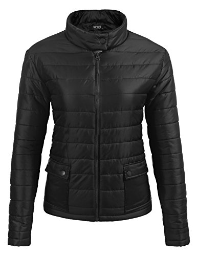 SE MIU Women's Lightweight Packable Down Jacket Outwear Puffer Down Coats Black - For Miu Sale Miu