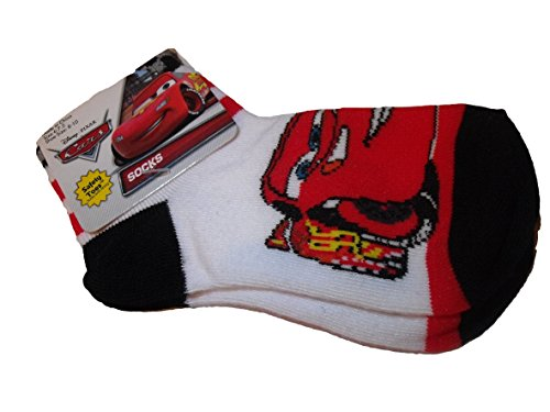 Disney Cars Lightning McQueen Socks Dress Black white Sz 1-5 Shoe