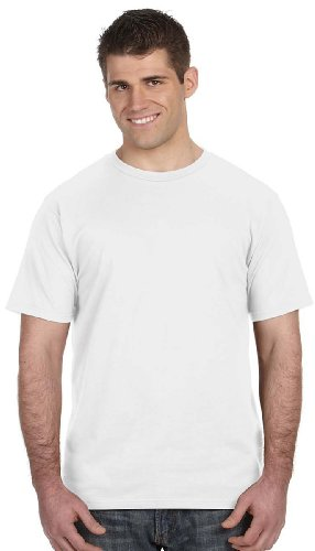 Fashion Ringspun T-shirt - Anvil Ringspun Cotton Short-Sleeve Fashion Fit T-Shirt, white, Medium
