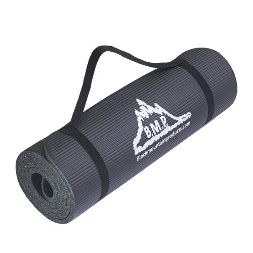 Amazon.com: Negro Montaña Productos Yoga y el ejercicio mat ...