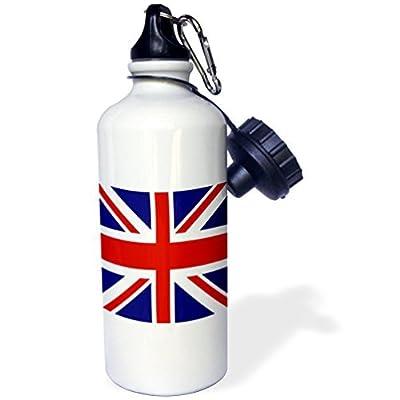 Zhaoshoping Union Jack Vieux Drapeau britannique Naval Sports Bouteille d'eau en acier inoxydable Bouteille d'eau pour femme homme enfants 400ml
