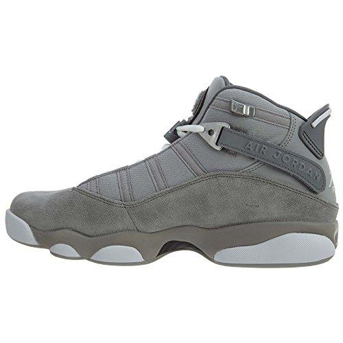 Jordan Nike Mens 6 Anelli Scarpa Da Basket Argento Opaco / Bianco-grigio Freddo