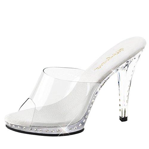 Heels-Perfect - Zuecos de Material Sintético para mujer Transparente - Transparent (klar)