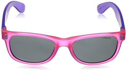 Violet Enfant Soleil grey Lunette P0115 viola Rectangulaire Polaroid Pink De qwP7xFU