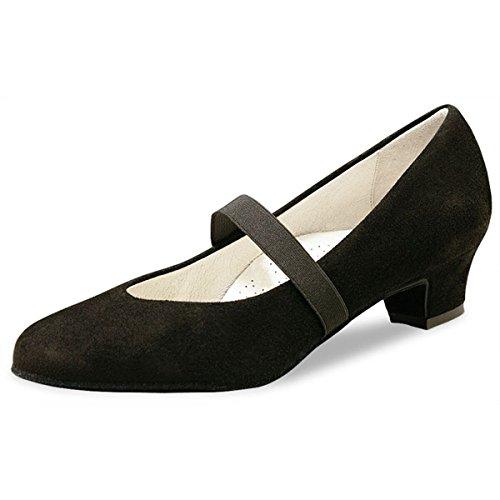 Werner noyau, Chaussures de danse femme Daniela 3,4Suède Noir