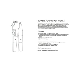 TRU-SPEC Lightweight 24-7 Tactical Cleaning Pant-specs