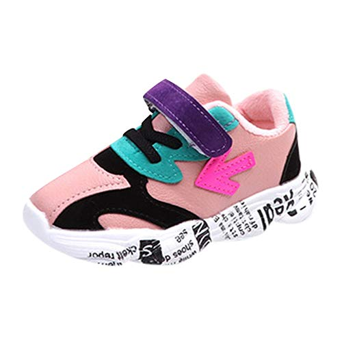 Todaies Children Kid Baby Girls Boys Patchwork Arrow Letter Sport Running Casual Shoes
