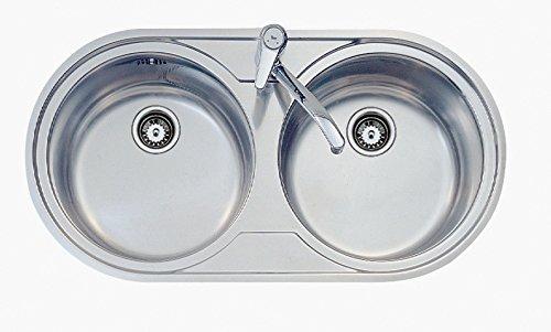 Amazon.com: Teka - Fregadero con dos lavabos Teka 9025 ...