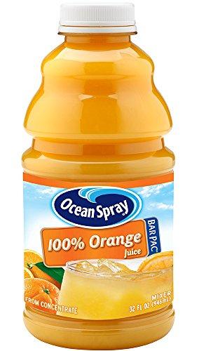 Ocean Spray 100% Orange Juice, 32 Ounce Bottle (Pack of 12)