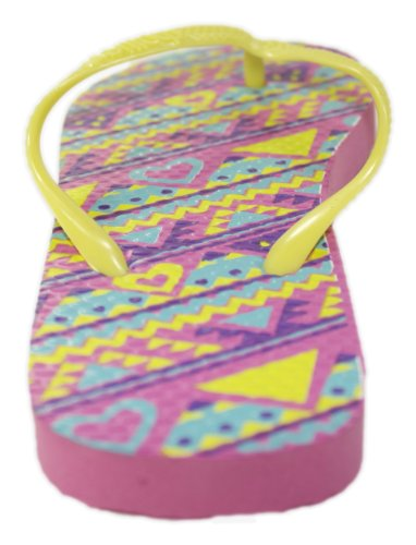 Flop Neon Tone Print Tribal Pink Sandals Yellow Flip Two XrqXwS