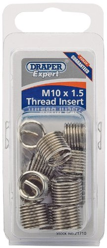 Draper Expert M10 x 1.5 Metric Thread Insert Refill Pack (12) - 21710