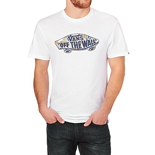Vans T-Shirts - Vans OTW Logo Fill T-Shirt - White/White Acid Palm