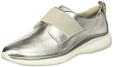 Cole Haan Women's 3.Zerogrand Oxford Sneaker Argento Leather/Vapor Grey 5 B US