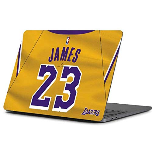 Skinit NBA Los Angeles Lakers MacBook Pro 13-inch (2016-17) Skin - LeBron James Lakers Jersey Design - Ultra Thin, Lightweight Vinyl Decal Protection
