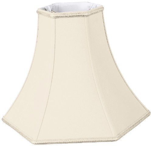 Royal Designs DDS-90-16EG 6 x 16 x 12.5 Hexagon Bell Designer Lamp Shade, Eggshell