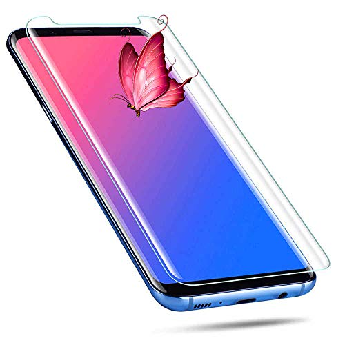 (Galaxy S8 Plus Screen Protector, [2PACK][9H Hardness][Anti-Scratch][Anti-Bubble][3D Curved] [High Definition] [Ultra Clear] Glass Screen Protector Compatible with Samsung Galaxy S8 Plus Clear)