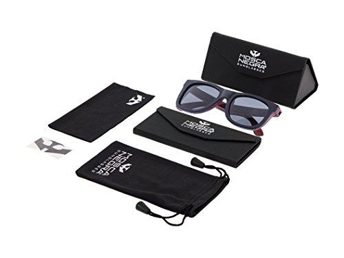 modelo ® Black NEGRA de MOSCA Sunglasses Wood Gafas SKATE madera Polarized qXPI7
