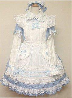 cc4eb66d8 ゴスロリィタ Lolita ロリータ服 衣装 洋服 COSMAMA LLTLZY0043 ブルーとホワイト 袖の取り外しが可能
