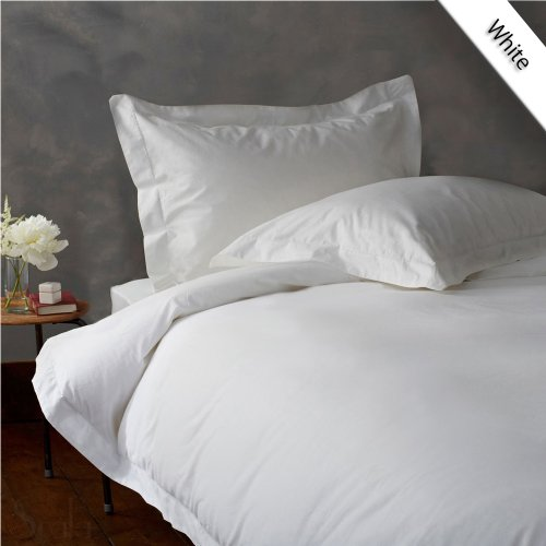 Luxurious Hotel Quality 1PC Duvet Cover 400 Thread Count Queen 100% Egyptian Cotton White Solid by Fab Linens (400 Thread Organic)
