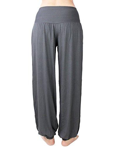 HOEREV Super Soft Modal Spandex Harem Yoga/ Pilates Pants black, XL