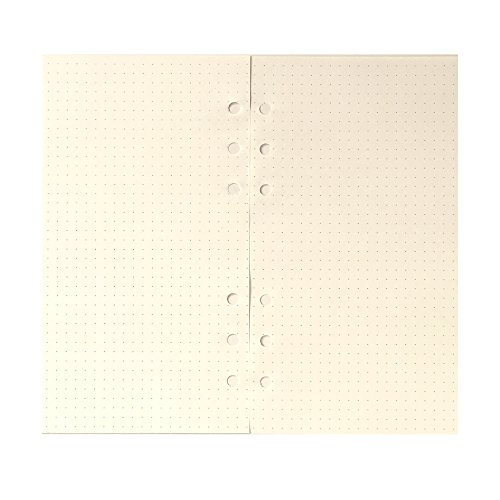 (Dotted Refill Paper for 6 inch A6 6-Holes Cover Round Ring Binder File Folder pack of 2)