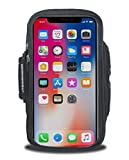 Armpocket X Sweat/Weather Proof Phone Armband, Black, Medium Strap - Fits iPhone X, Galaxy S9, or Bezel-Less Phones up to 6''