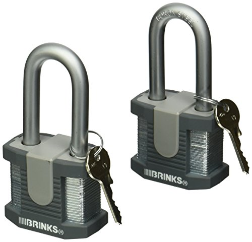 Brinks 672-52201 Commercial 50mm Solid Steel Lock with 2
