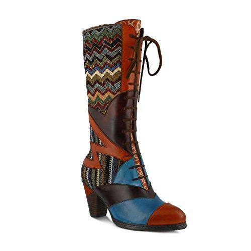 L'Artiste by Spring Step Women's Malag Boot, Orange/Multi, 41 EU/9.5-10 M US