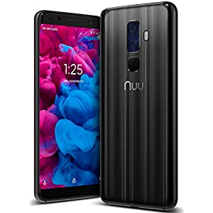 "41vL%2Bx4cSqL. SS300  - NUU Mobile G3 Plus Unlocked Cell Phone 64GB + 4GB RAM 4000 mAh - 5.7"" Android 8.1 Oreo Smartphone - Onyx Black  NUU Mobile G3 Plus Unlocked Cell Phone 64GB + 4GB RAM 4000 mAh – 5.7″ Android 8.1 Oreo Smartphone – Onyx Black 41vL 2Bx4cSqL"