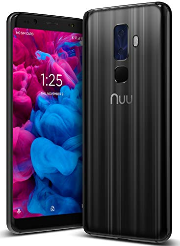 NUU Mobile G3 Plus Unlocked Cell Phone 64GB + 4GB RAM 4000 mAh – 5.7″ Android 8.1 Oreo Smartphone – Onyx Black