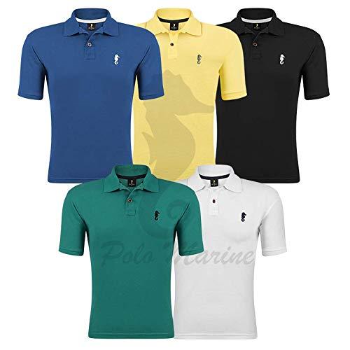 Kit 05 Camisetas Gola Polo - Polo Marine (Kit 06, M)