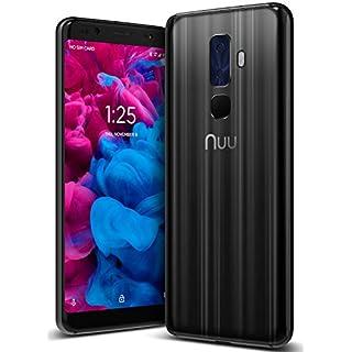 "NUU Mobile G3 Plus Unlocked Cell Phone 64GB + 4GB RAM 4000 mAh Battery - 5.7"" Android 8.1 Oreo Smartphone - Onyx Black"