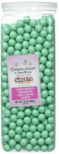 (Celebrations By SweetWorks Sixlets(R) 30oz, Shimmer (TM) Turquoise)