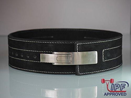 HHR Lever Belt 10mm Black Weight Lifting Genuine Leather Strongman Powerlifting Belt 10mm Weightlifting Belt Power Lifting for Men & Women,!!!