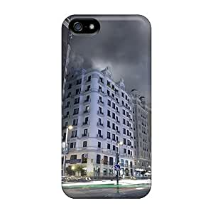 Mialisabblake Case Cover Protector Specially Made For Iphone 5/5s Madrid Street In Long Exposure by supermalls