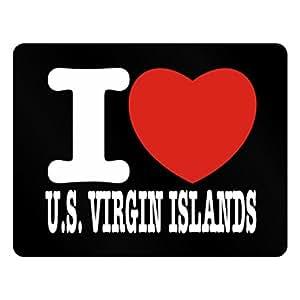 Teeburon I love US Virgin Islands Plastic Acrylic
