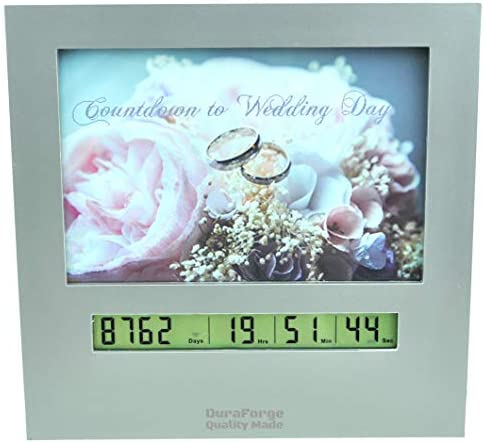 Wedding Countdown Clock with Large Digital Display Day Timer is Also a 4×6 Picture Frame Use it as a Reusable Advent Calendar or Count Down to New Baby, Honeymoon Vacation Xmas Retirement